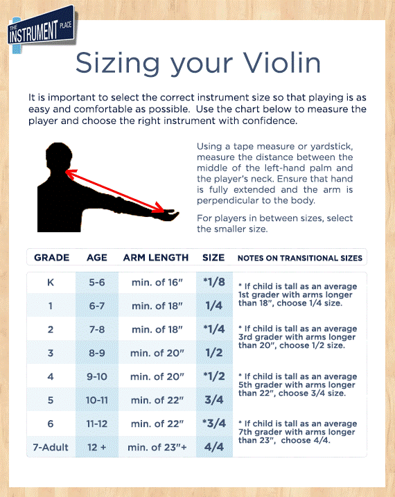 Sizing Your Violin